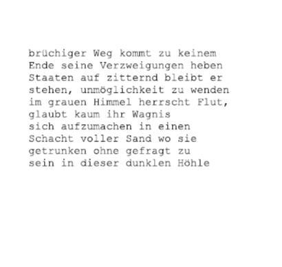 Brüchiger Weg…